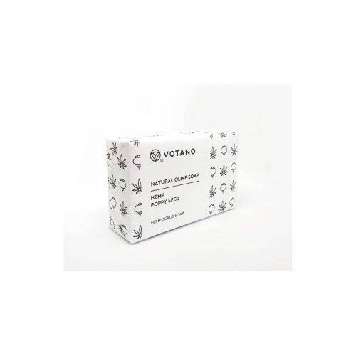 Σαπούνι Απολέπισης Κάνναβη-Παπαρουνόσπορος 110gr | Votano